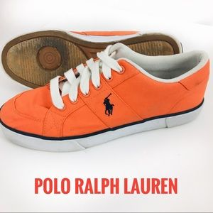 Polo Ralph Lauren Orange Sneakers 8D